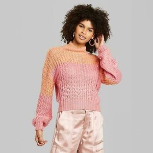 wild fable Pink Mock Turtleneck Ombré Sweater